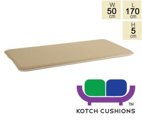 Premium Cushion for 1.8m Bench in Taupe by - Kotch 5cm Thick