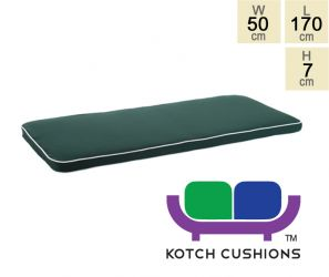 Deluxe Cushion for 1.8m Bench in Green by Kotch - 7cm Thick