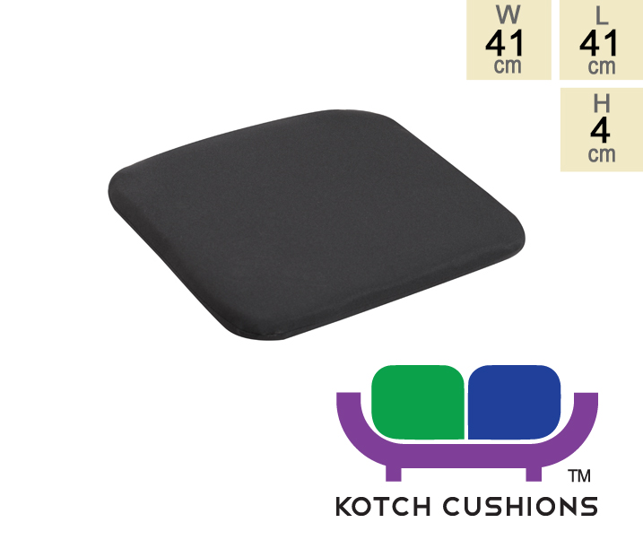 Standard Chair Cushion in Black by Kotch - 4cm Thick