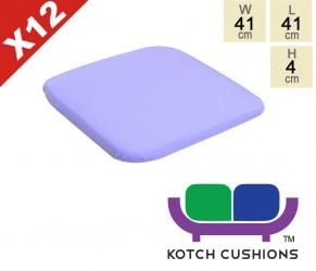 Set of 12 Standard Chair Cushions in Lilac by Kotch - 4cm Thick