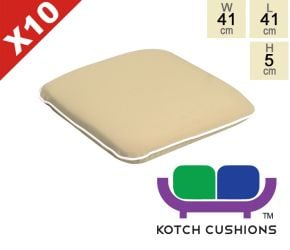 Set of 10 Premium Chair Cushions in Taupe by Kotch - 5cm Thick