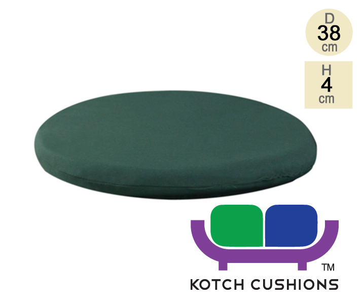 Standard Round Chair Cushion in Green by Kotch - 4cm Thick