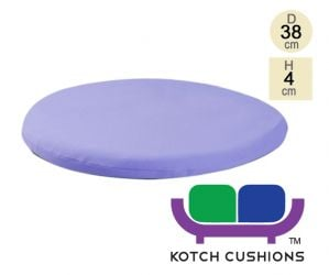Standard Round Chair Cushion in Lilac by Kotch - 4cm Thick