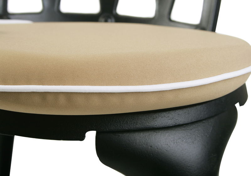 Premium Round Chair Cushion in Taupe by Kotch - 5cm Thick