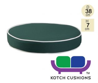 Deluxe Round Chair Cushion in Green by Kotch - 7cm Thick