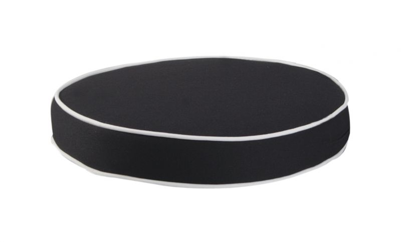 Deluxe Round Chair Cushion in Black by Kotch - 7cm Thick