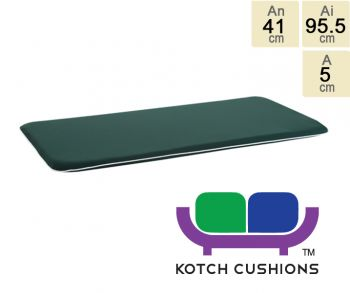 Premium Cushion for 1m Bench in Green by Kotch - 5cm Thick