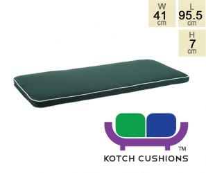 Deluxe Cushion for 1m Bench in Green by Kotch - 7cm Thick