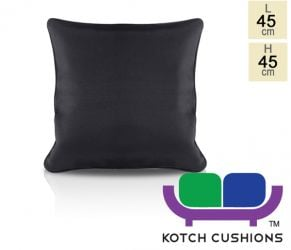 Pair of 45cm Square Scatter Cushions in Black by Kotch