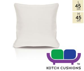 Pair of 45cm Square Scatter Cushions in Ivory by Kotch