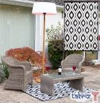 Outdoor Rug Samti in Black - 1.2m x 1.8m by Tabriz Rugs™