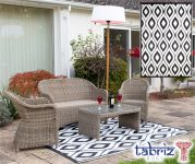 Outdoor Rug Samti in Black - 1.8m x 2.5m by Tabriz Rugs™