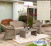 Outdoor Rug Samti in Beige - 1.8m x 2.5m by Tabriz Rugs™
