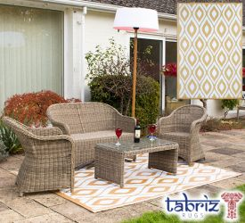 1.8m x 2.5m Outdoor Samti Rug in Beige by Tabriz Rugs™