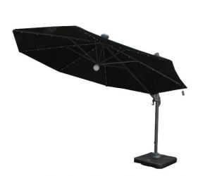 Solar Powered 3.5m Round Cantilever Parasols with LED Lights