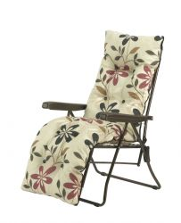 Camelot Folding Steel Frame Relaxer with Leg Support & Cushion - Avant Garde