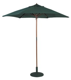Wooden Pole Parasol 3m Classic Green