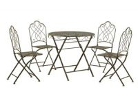 Antique Tea for Four Bistro Set