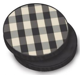 Standard Round Pad Cushion in Black