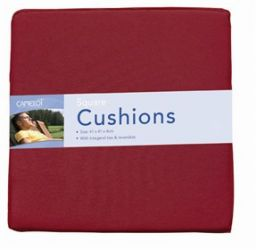 Square Cushion Red - Pair