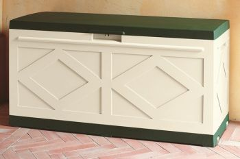 Maxi Resin Storage Box in Green/Ivory W127cm