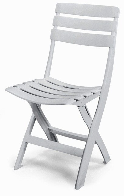Queen Resin Folding Chair in White