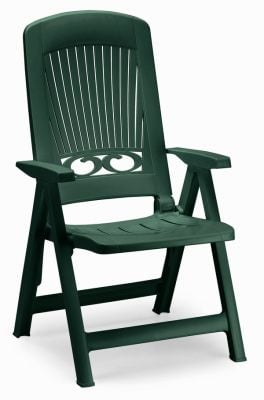 Splendida Multi-Position Resin Garden Armchair in Forest Green