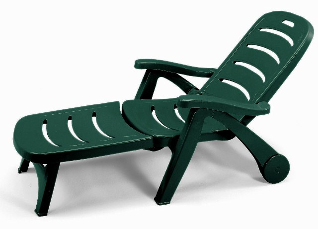 Stella Di Mare 2in1 Resin Garden Sunbed/Reclining Armchair in Forest Green