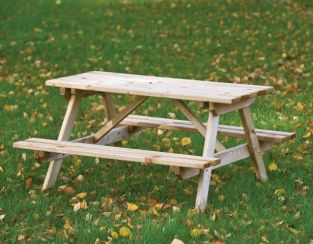 Junior Wooden Garden Picnic Table