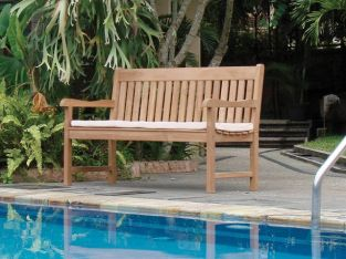 The Dublin 1.5m (4ft 11ins) Teak Bench