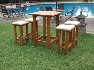 4 Seater Ibiza Hardwood Garden Party Set