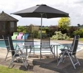 Tarito 6 Seater Garden Furniture Set with Parasol