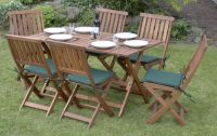 Concord Hardwood 6 Seater Folding Garden Dining Set
