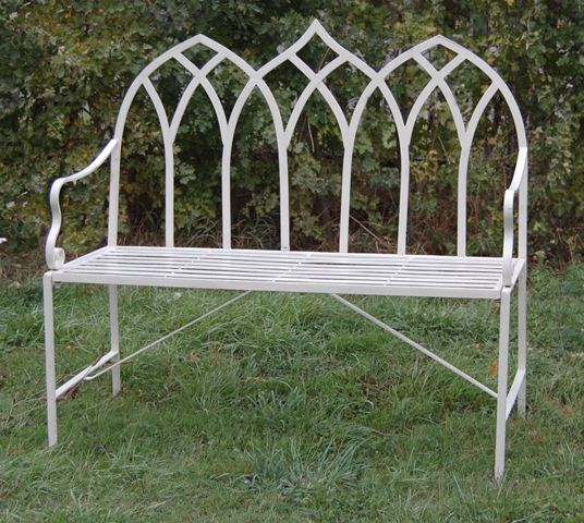 Gothic 1.03m (3ft 4½ins) Steel Bench