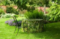 Camouflage Circular Table Garden Furniture Cover - Long Grass