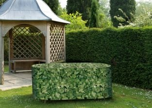 Camouflage Oval 208cm x 191cm Patio Set Garden Furniture Cover - Evergreen