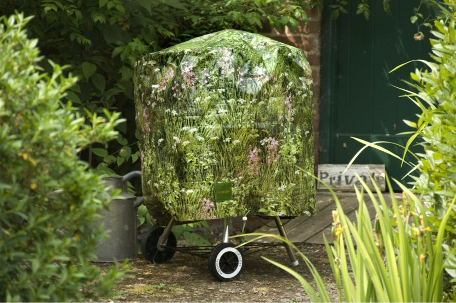 Camouflage 71cm Kettle BBQ Cover - Long Grass