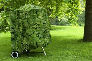 Camouflage Kettle BBQ Cover - Evergreen