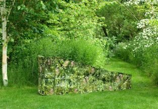 Camouflage Steamer/Sunbed Garden Furniture Cover - Long Grass