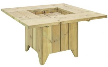 Alexander Rose Pine Garden Table with Stools