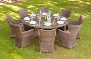 Alexander Rose Monte Carlo Rattan 8 Seater Round Garden Furniture Set