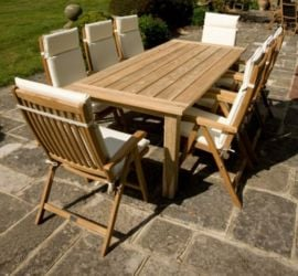 Alexander Rose Teak Bengal 8 Seater Rectangular Garden Furniture Set