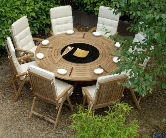 Alexander Rose Teak Bengal 8 Seater Round Garden Furniture Set
