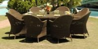 Alexander Rose San Marino 8 Seater Round Garden Furniture Set with Wicker Armchairs