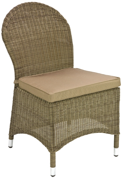 Alexander Rose Monte Carlo Rattan 6 Seater Round Garden Furniture Set with Dining Chairs