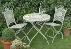 Dewchurch Steel Round Folding Garden Bistro Set in Green