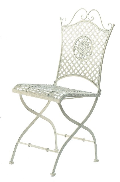 Ascalon Dewchurch Steel Round Folding Garden Bistro Set in Cream