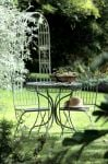 Hampton Steel Round Garden Bistro Set in Green