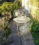 Abbey Round Steel Garden Bistro Set