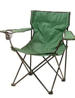 Folding Polyester Leisure Chair - Green